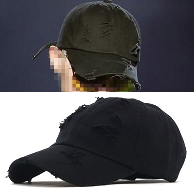 G-DRAGON STYLE! HIGH QUALITY VERSION VINTAGE DAMAGE BALL CAP