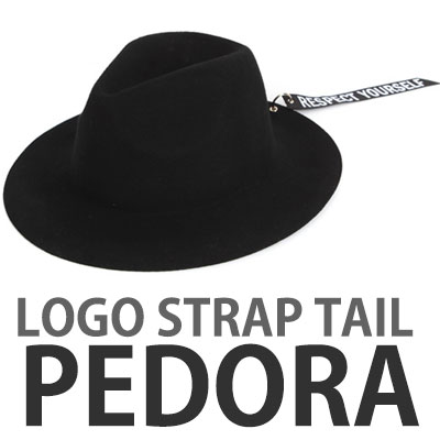 CHIC & MODERN LOGO STRAP TAIL FEDORA