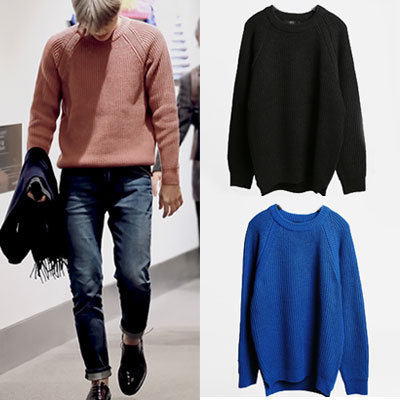 K-POP IDOL EXO STYLE! RAGLAN KNIT