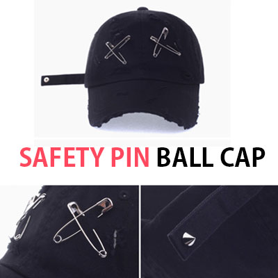 SAFETY PIN VINTAGE STRAP BALL CAP