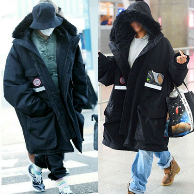 G-DRAGON,RIHANA STYLE!OVERSIZE FIT DOWN JACKET