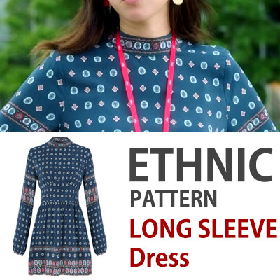 Jealousy incarnate/k-drama/ETHNIC STYLE LONG SLEEVE DRESS