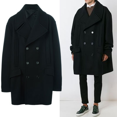 HYUKOH style! OVER SIZE CLASSIC BLACK COAT