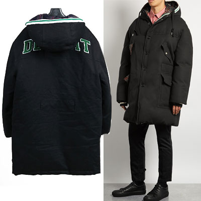 DUCKDOWN90% DUCK FEATHER 10% BACK LOGO PATCH DUCK DOWN JACKET