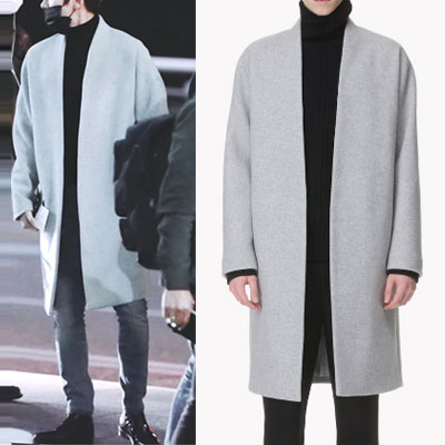 exo lee-jongseok style! COLLARESS COAT