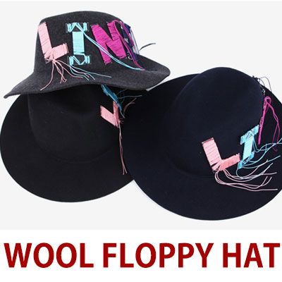 WOOL 100% FLOPPY HAT