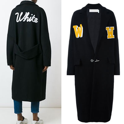 W PATCH ONE BOTTON COAT