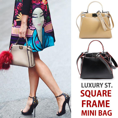 LUXURY style. SQUARE FRAME MINI BAG
