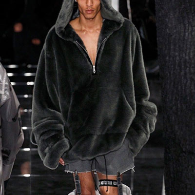 KANYE,RIHANNA STYLE! OVER FIT SIZE FUR ANORAK HOODIE