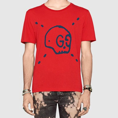 LUXURY STYLE! SKULL PRINTED SHORT SLEEVE T-SHIRT