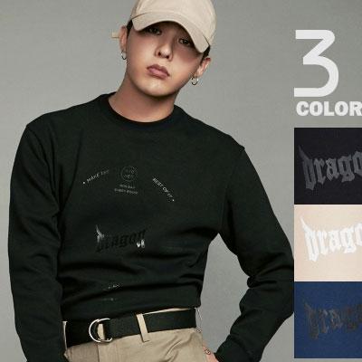 [8 X GD's PICK](original)G-DRAGON st! BLACK,BEIGE,BLUE GRAPHIC SWEATSHIRTS