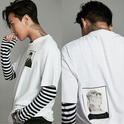 2016 FW [8XG-DRAGON]WHITE PRINT T-SHIRTS_G-DRAGON GD COLLABORATION