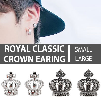 BTS JIN st.ROYAL CLASSIC CROWN EARRING/k-pop IDOL FT island st.