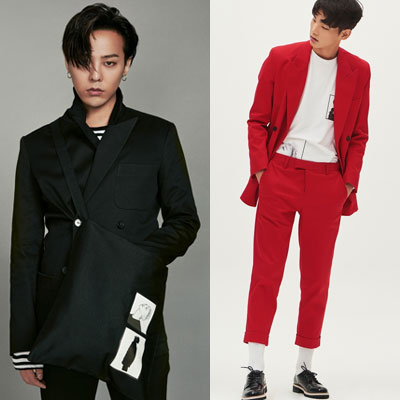 2016 FW [8 X GD's PICK] entrance ceremony, graduation suit / black double jacket / G-DRAGON collaboration 8 SECONDS