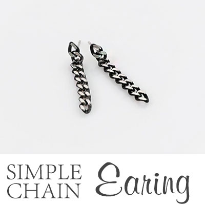 SIMPLE CHAIN EARRING/SURGICAL STEEL