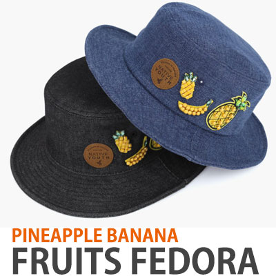 FRUITS/PINEAPPLE BANANA FRUITS FEDORA