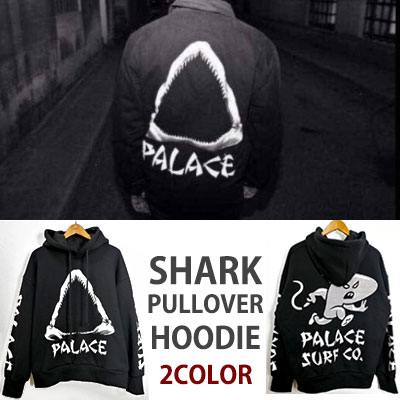 SHARK&ARM PRINT POINT PULLOVER HOODIE