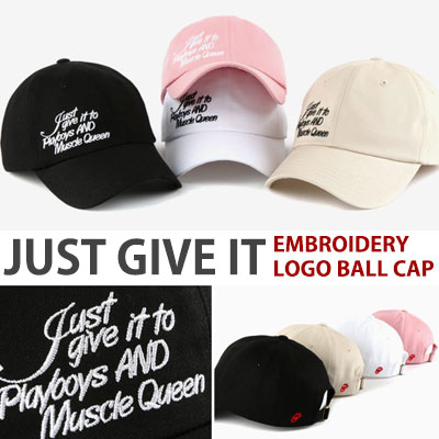 JUST GIVE IT EMBROIDERY LOGO BALL CAP
