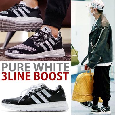 PURE WHITE 3LINE BOOST/fxxk it/bigbang/g-dragon/gd
