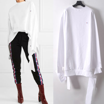 ★white color★OVER SIZE UNIQUE LONG SLEEVE JERSEY☆BCV