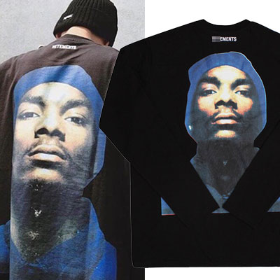 RAPPER FACE PRINT LONG SLEEVE T-SHIRTS