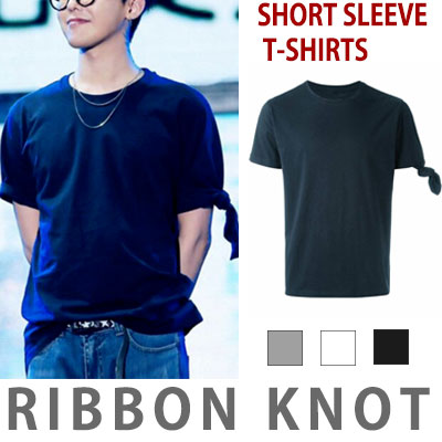 G-DRAGON STYLE!RIBBON KNOT SHORT SLEEVE T-SHIRTS/fxxk it/bigbang