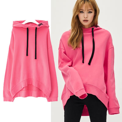 [8SECONDS]/2017ss 8 X GD's PICK(ORIGINAL)PINK DROP SHOULDER HOODIE GD collaboration