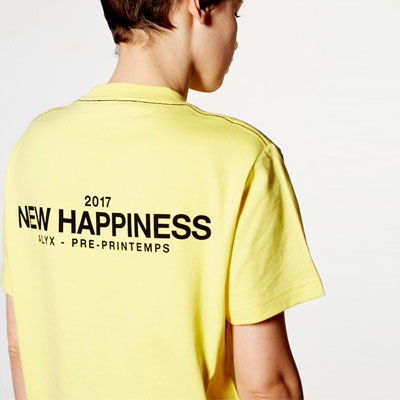 NEW HAPPINESS MASSEGE SHORT T-SHIRT