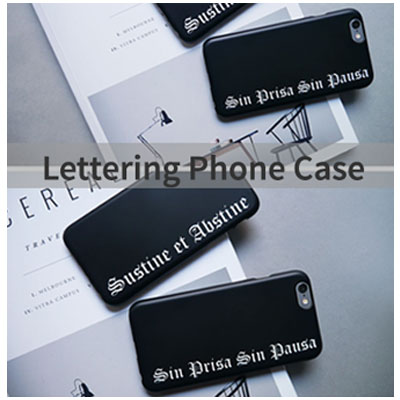 [HARD&TOUGH] Lettering Phone Case(2 type)
