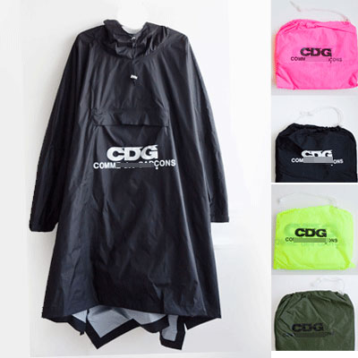 FRONT LOGO POINT RAIN COAT(with pouch)