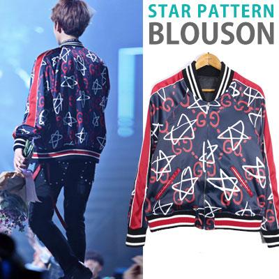 EXO BAEKHYUN st! STAR PATTERN BLOUSON
