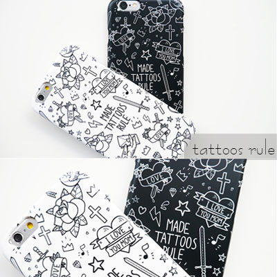 [HARD&TOUGH]tattoos rule Hard Phone Case