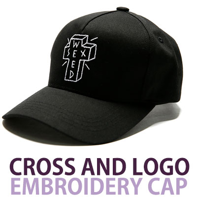 CROSS AND LOGO EMBROIDERY CAP