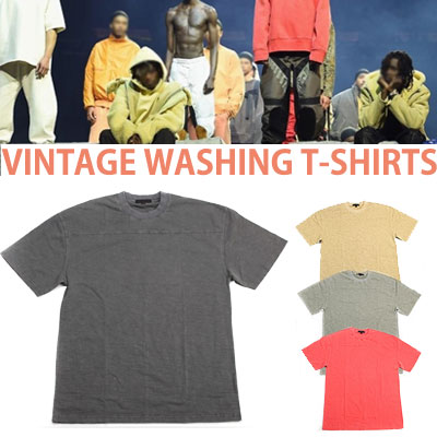 VINTAGE WASHING COLOR T-SHIRT