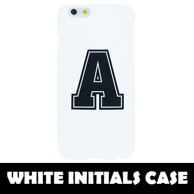 [TOUGH CASE] A~Z CAN CHOICE White Initials Hard Phone Case