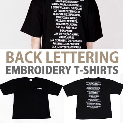 BACK LETTERING EMBROIDERY T-SHIRT