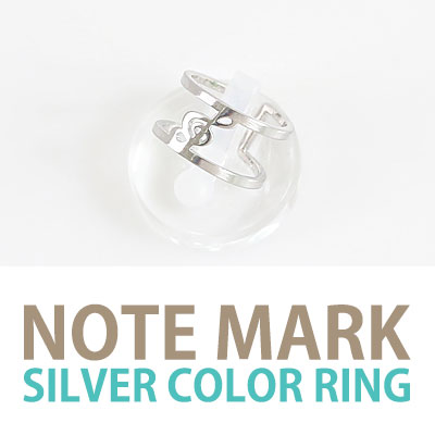 NOTE MARK SILVER COLOR RING