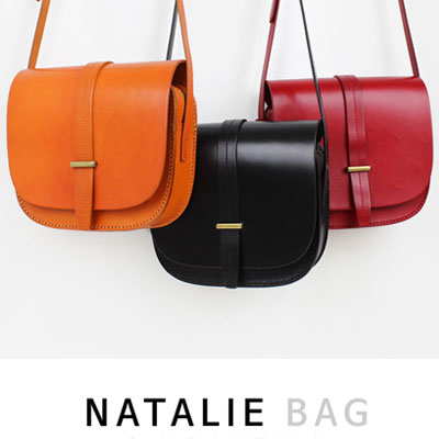★LEATHER★STRAP POINT NATALIE BAG