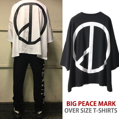 G-DRAGON STYLE! BIG PEACE MARK OVER SIZE T-SHIRT/gd/bigbang/fxxk it