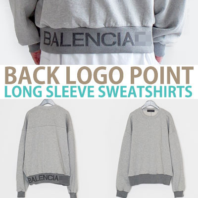 BACK LOGO POINT LONG SLEEVE SWEATSHIRT