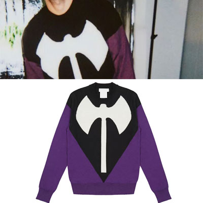 DOUBLE AX BLACK AND PURPLE KNIT