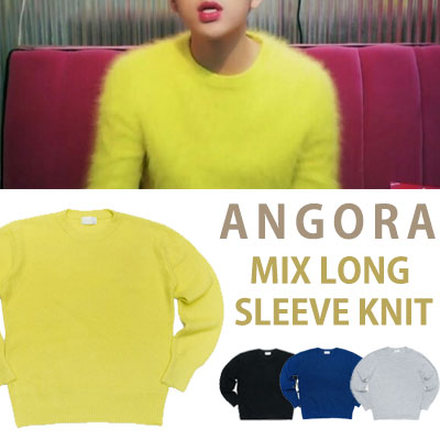 gd,zico st! ANGORA MIX LONG SLEEVE KNIT