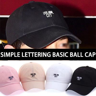 SIMPLE LETTERING BASIC BALL CAP/SONGJOONGKI st.