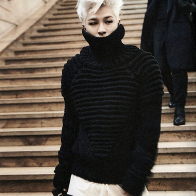 BIGBANG SOL (Taeyang) G-DRAGONXTAEYANG IN PARIS activities in fashion style! Remus ur turtleneck wool knit (3color)