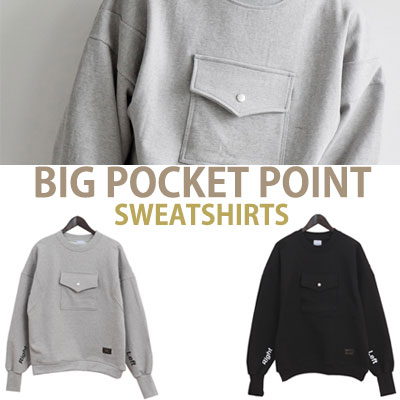 BIG POCKET POINT SWEATSHIRTS