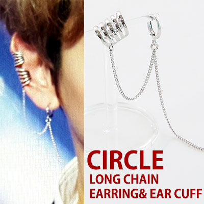 exo style!LONG CHAIN  AND EARRING& EAR CUFF