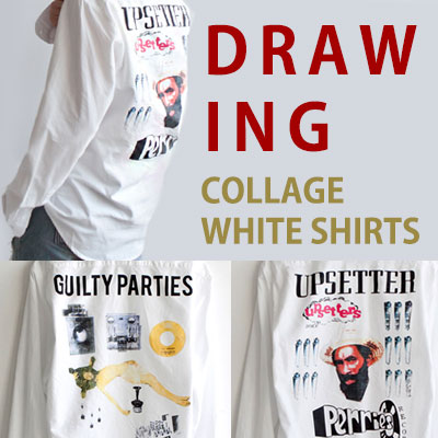 DRAWING COLLAGE WHITE SHIRTS