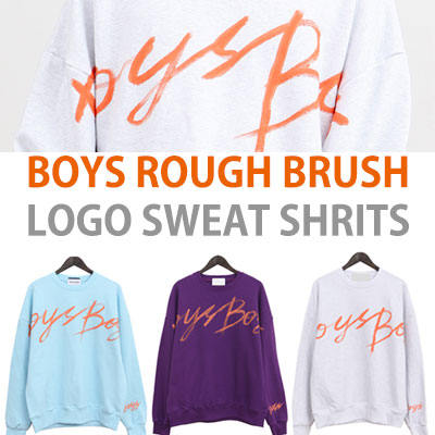 BOYS ROUGH BRUSH LOGO SWEAT SHIRTS