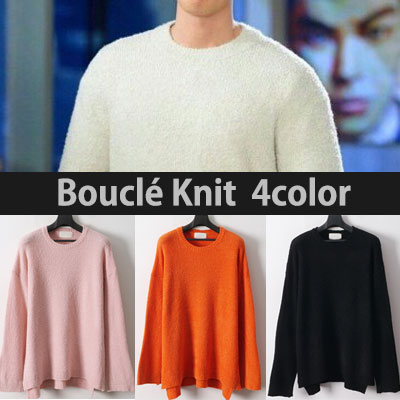 SPRING COLOR! BOUCLE KNIT