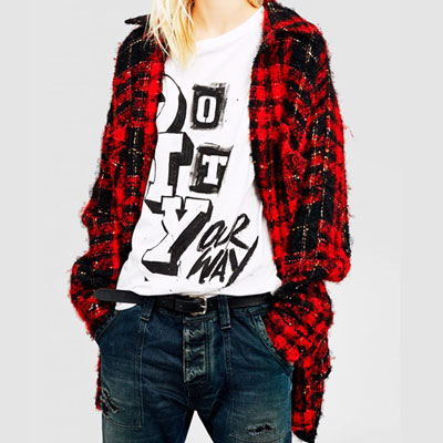 FLUFFY RED CHECK FLANNEL